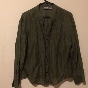 Chico's silk & linen blouse size 2 large